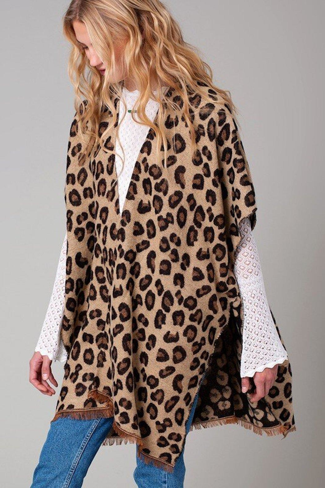Do Everything in Love Kelsey Leopard Print Kimono - Main Image