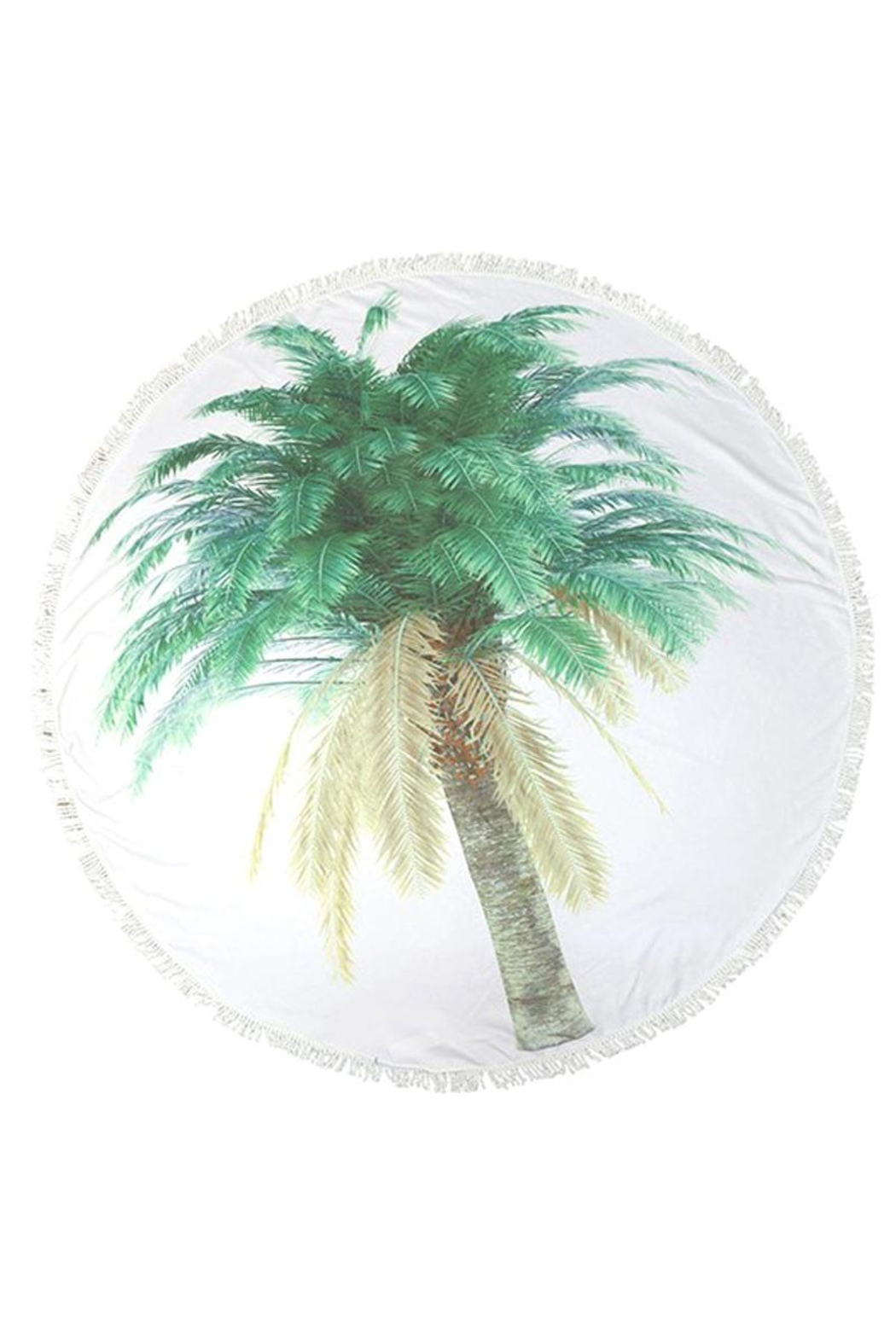 Do Everything in Love Palm Tree Towel - Main Image