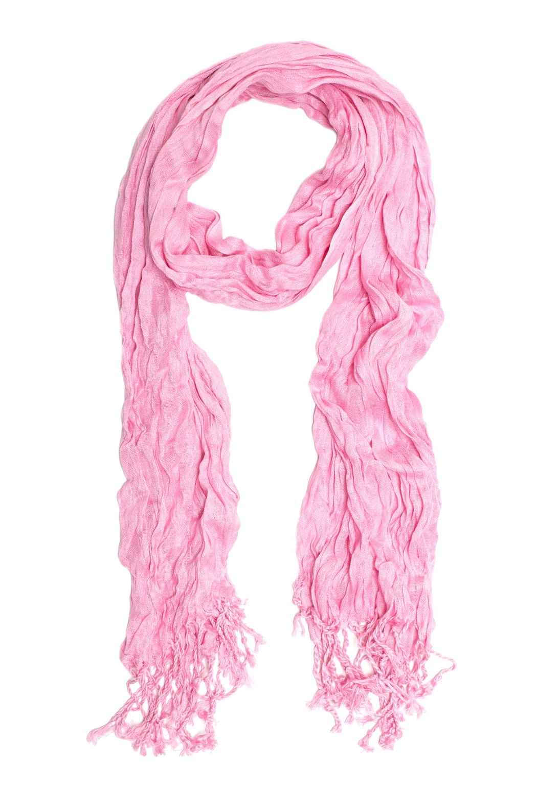 Do Everything in Love Pink Crinkle Scarf - Main Image