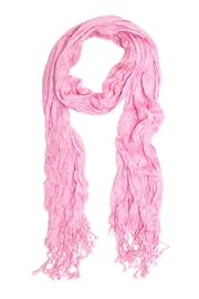 Do Everything in Love Pink Crinkle Scarf - Front cropped