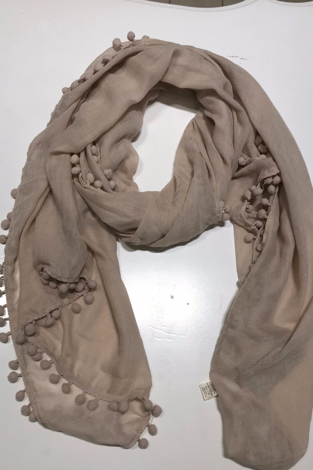 Do Everything in Love Pom Pom Scarf - Front Cropped Image