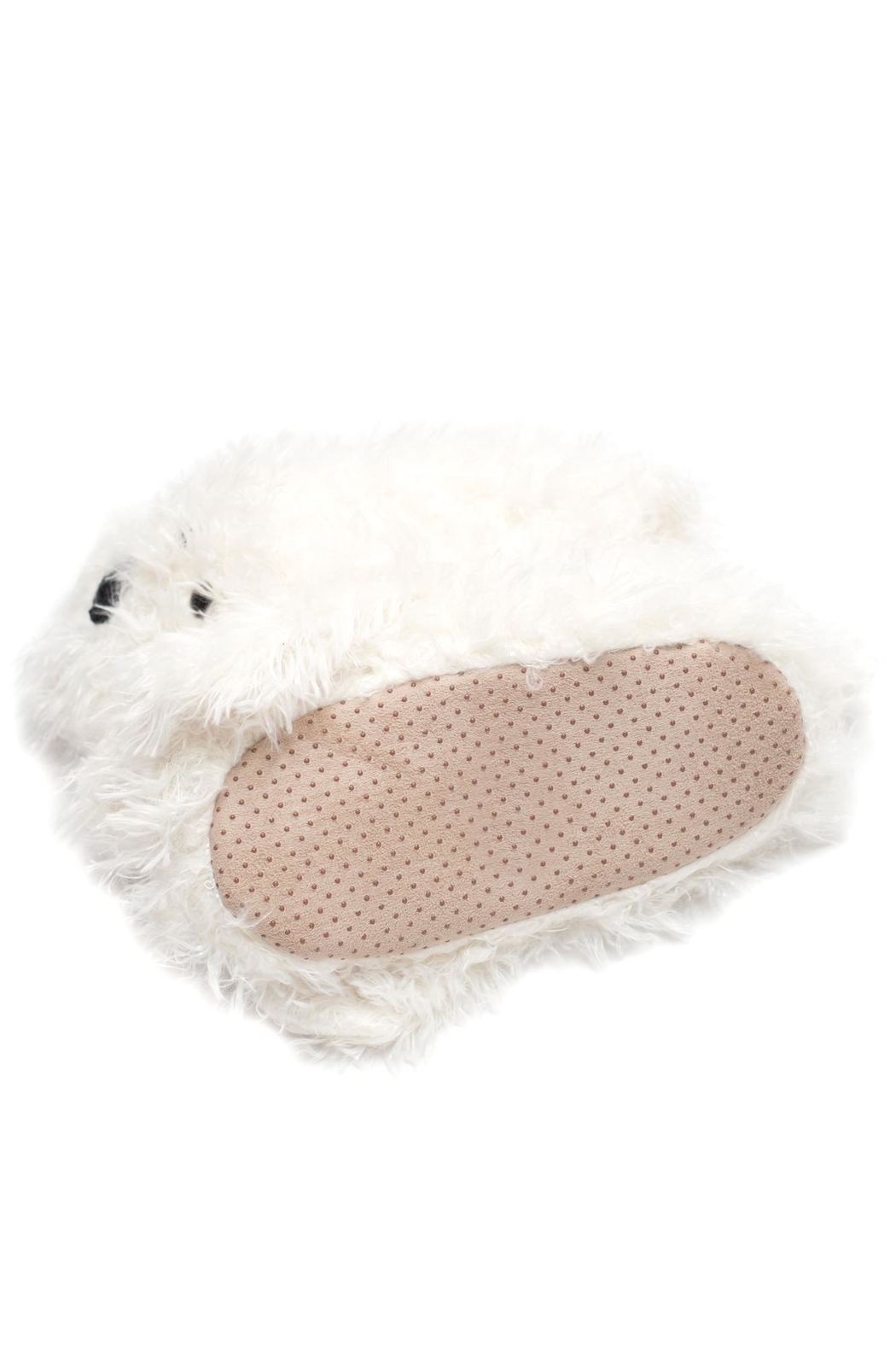 Do Everything in Love Shaggy Dog Slippers - Side Cropped Image
