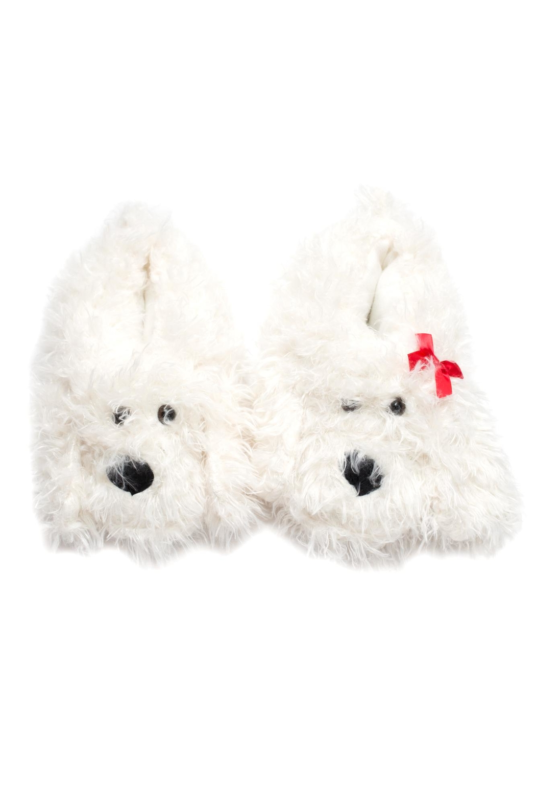 Do Everything in Love Shaggy Dog Slippers - Front Full Image