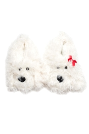 Do Everything in Love Shaggy Dog Slippers - Front full body