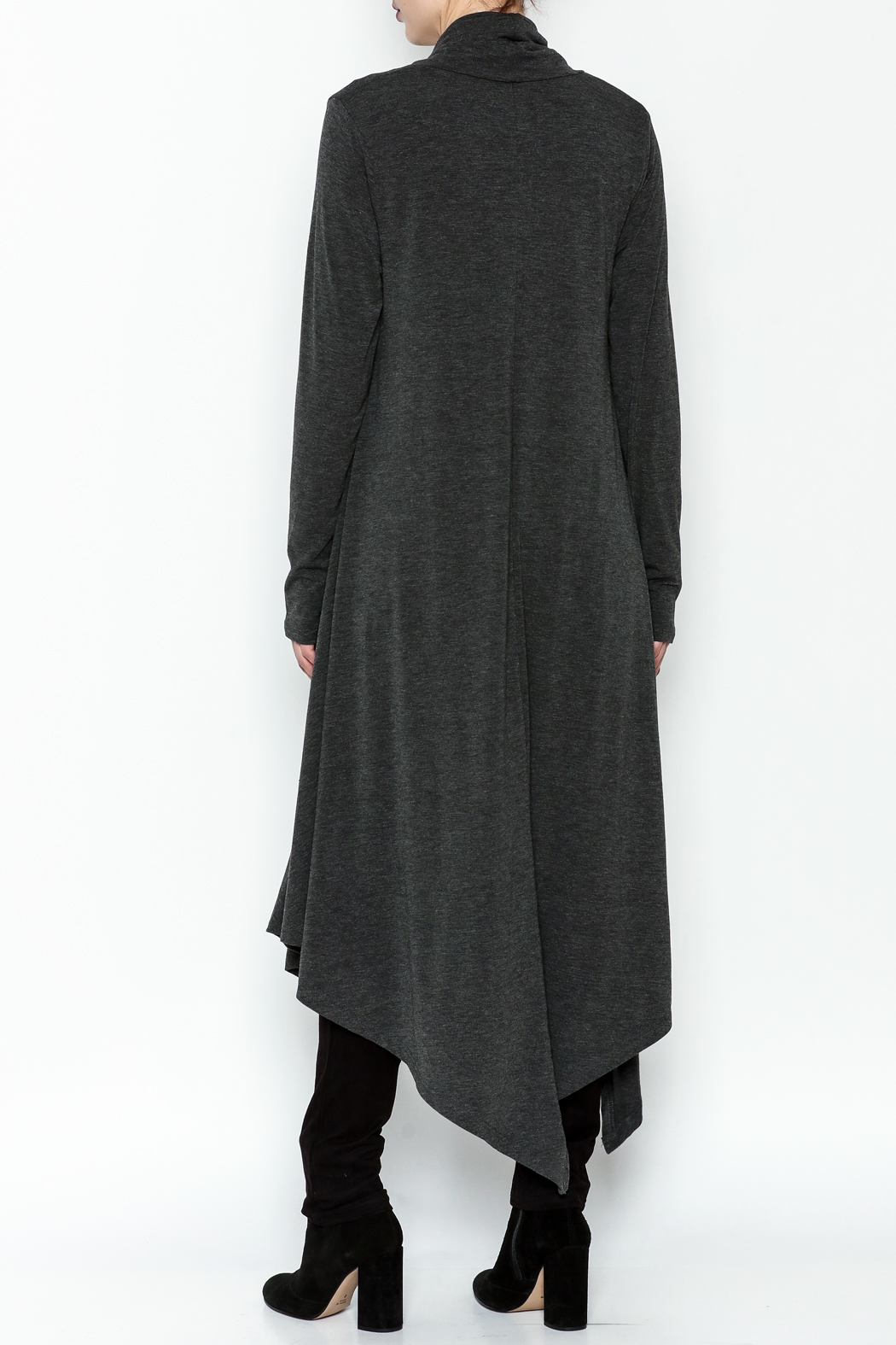 Doe & Rae Cowl Long Pullover - Back Cropped Image