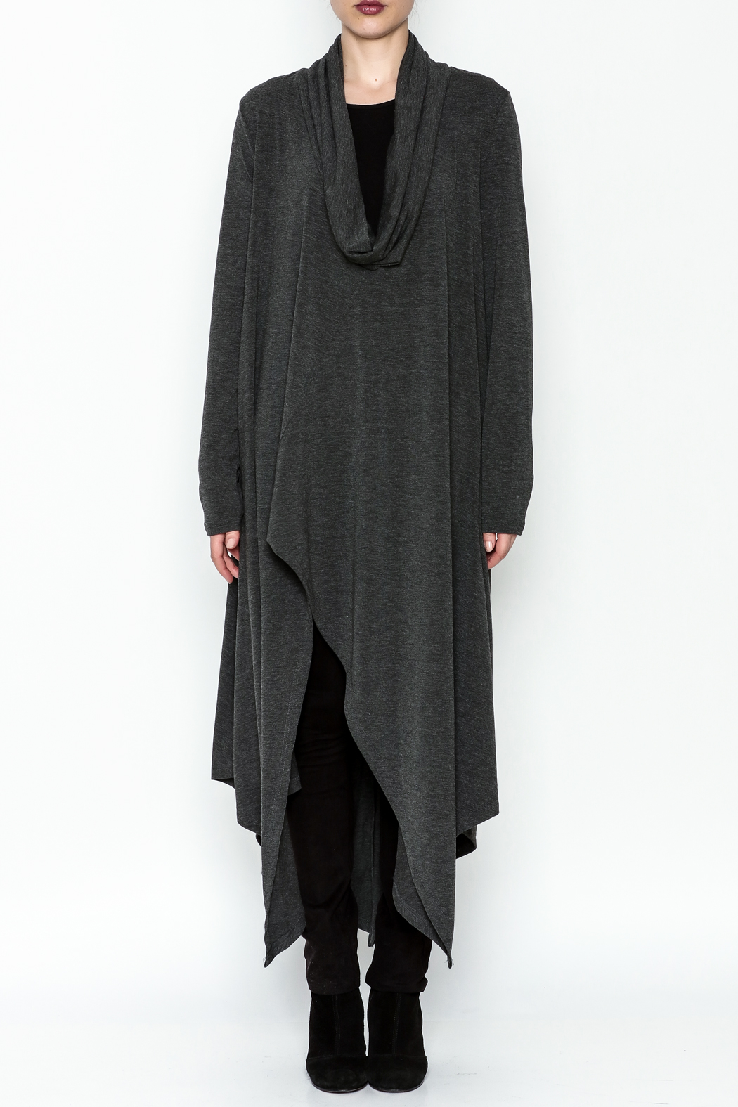 Doe & Rae Cowl Long Pullover - Front Full Image