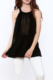 Doe & Rae Crochet Tunic Top - Front cropped