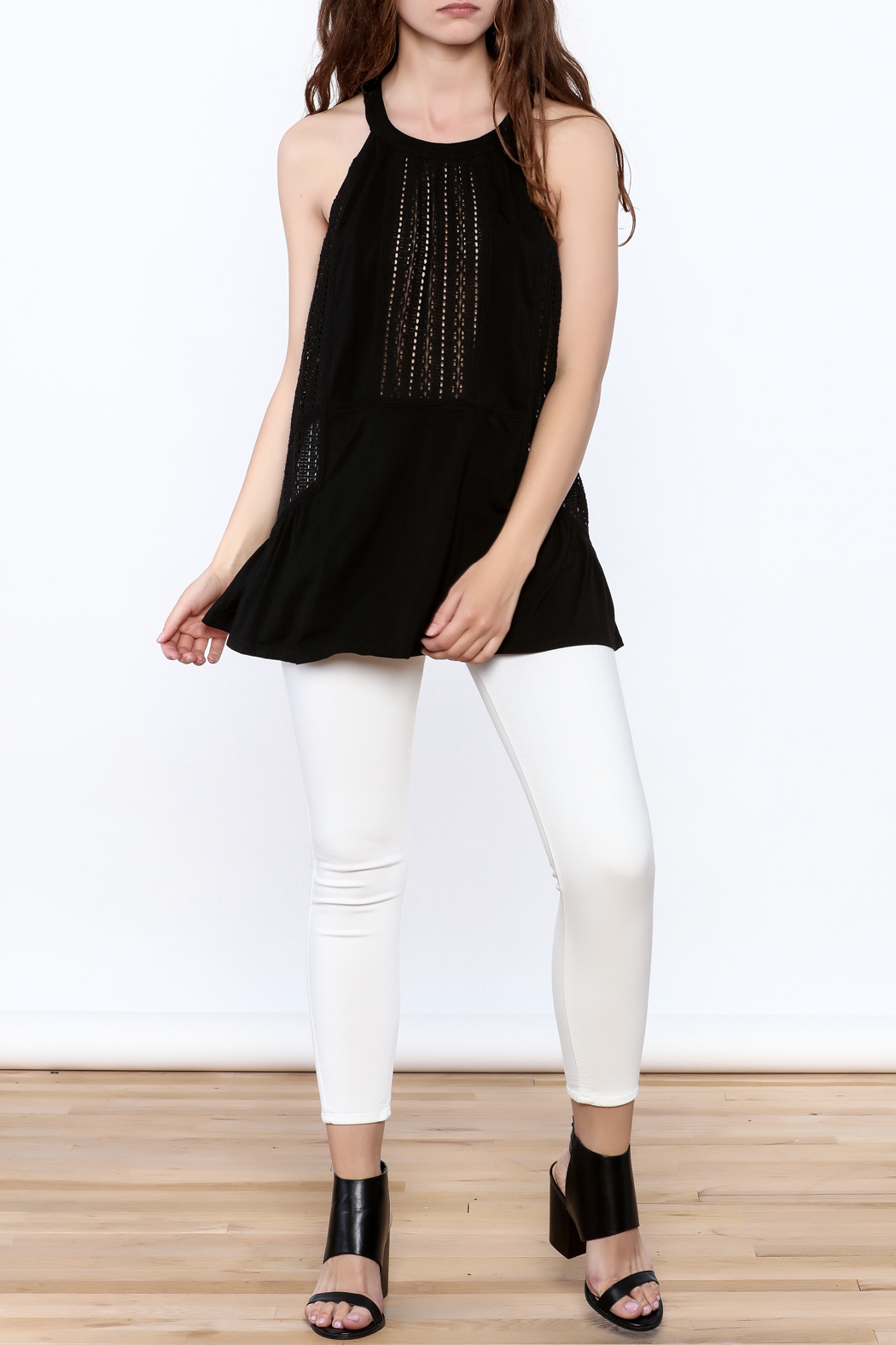 Doe & Rae Crochet Tunic Top - Front Full Image