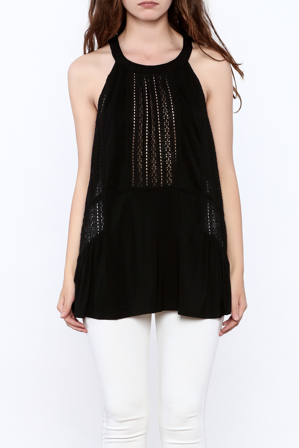 Doe & Rae Crochet Tunic Top - Side Cropped Image