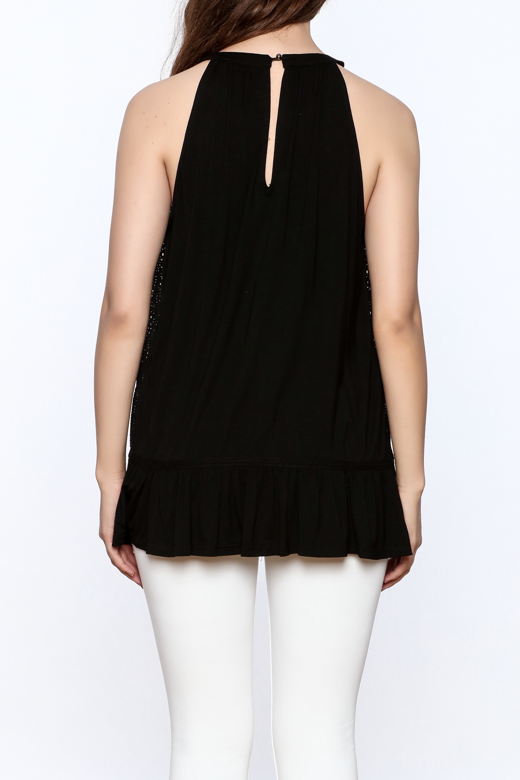 Doe & Rae Crochet Tunic Top - Back Cropped Image