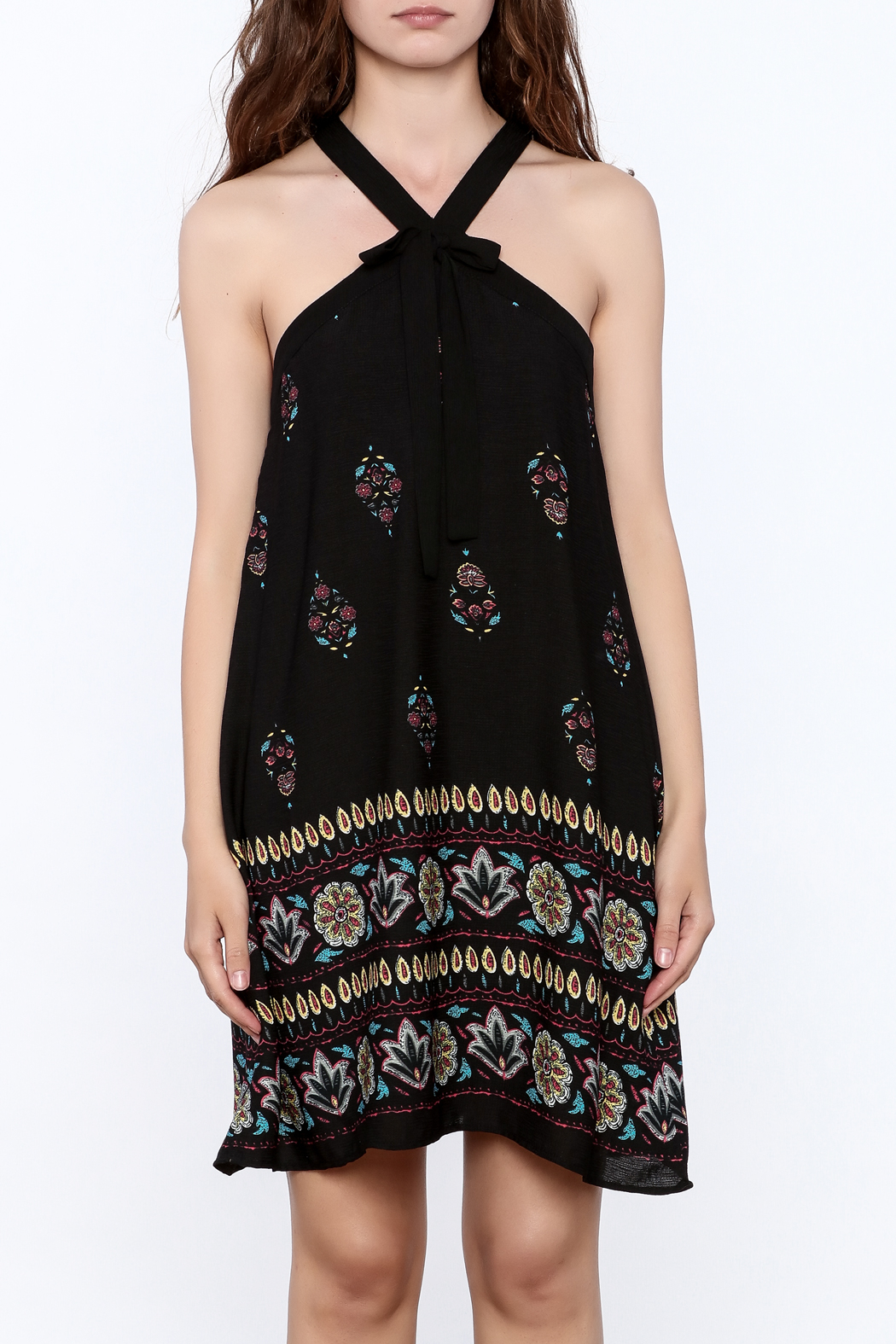Doe & Rae Floral Shift Dress - Side Cropped Image
