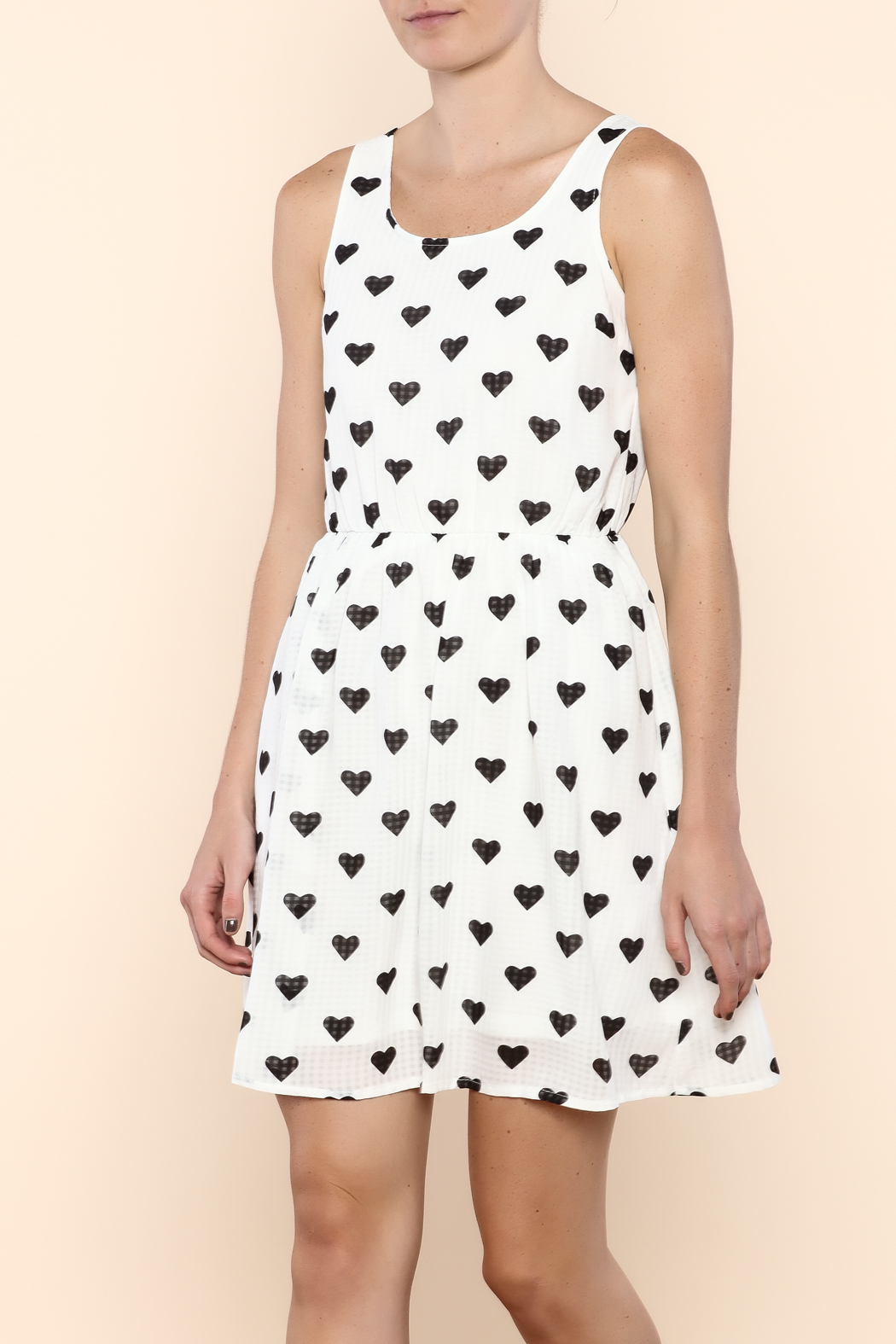 Doe & Rae Heavy Hearts Dress - Front Cropped Image