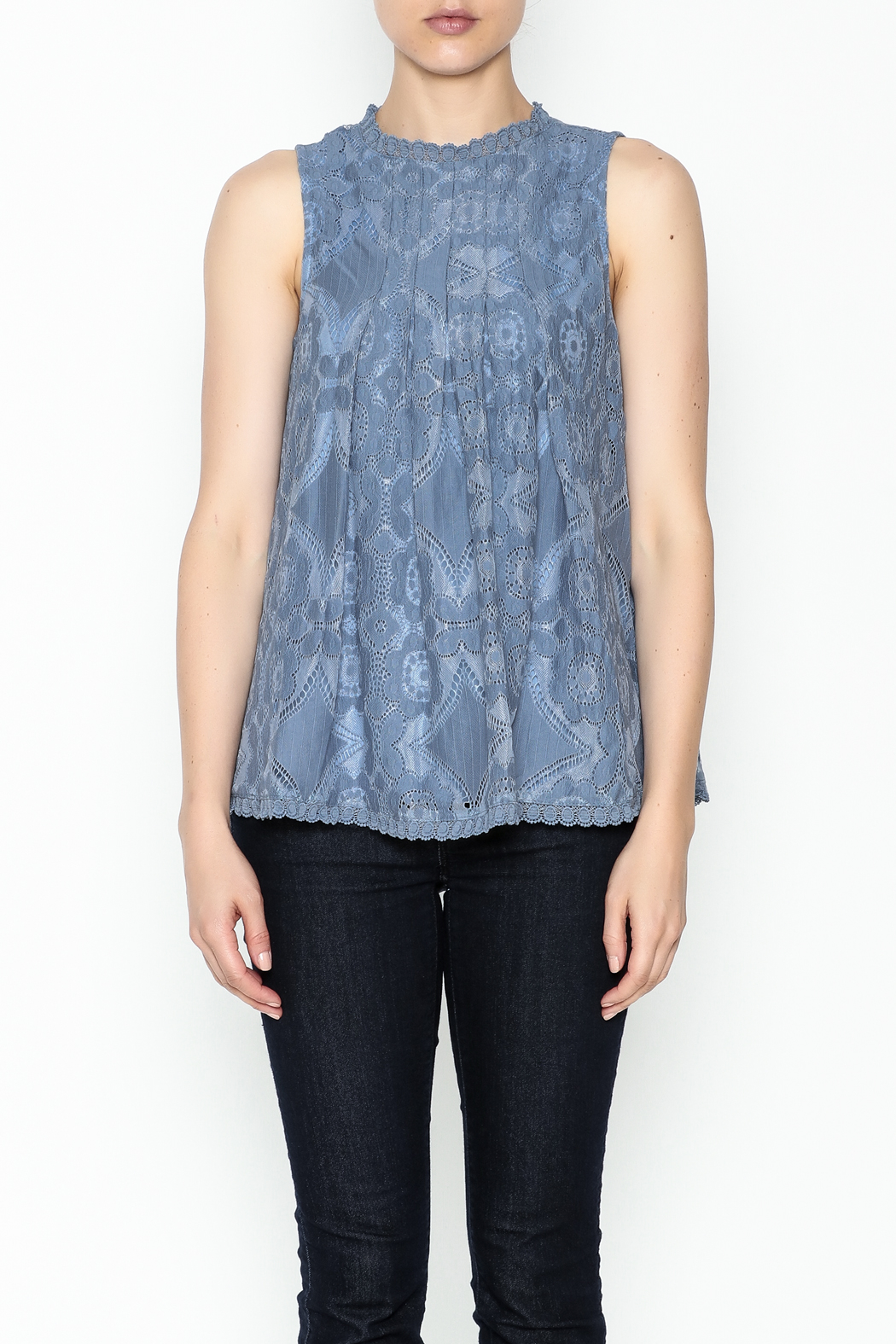 Doe & Rae Lace Tunic Top - Front Full Image