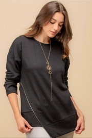 Doe & Rae Black Asymmetrical Sweatshirt - Product Mini Image