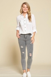 Doe & Rae Button Down Shirt - Front full body