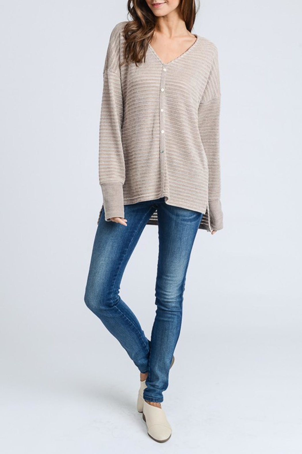 Doe & Rae Chenille Knit Top - Front Full Image