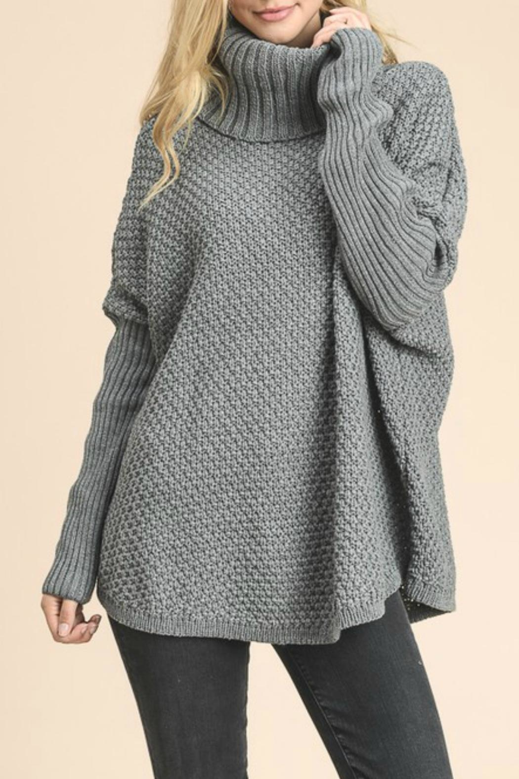 Doe + Rae Gray Chunky Oversized Sweater