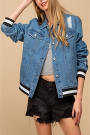 Doe & Rae Contrast Denim Jacket - Product Mini Image
