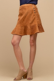 Doe & Rae Corduroy Ruffle Skirt - Product Mini Image