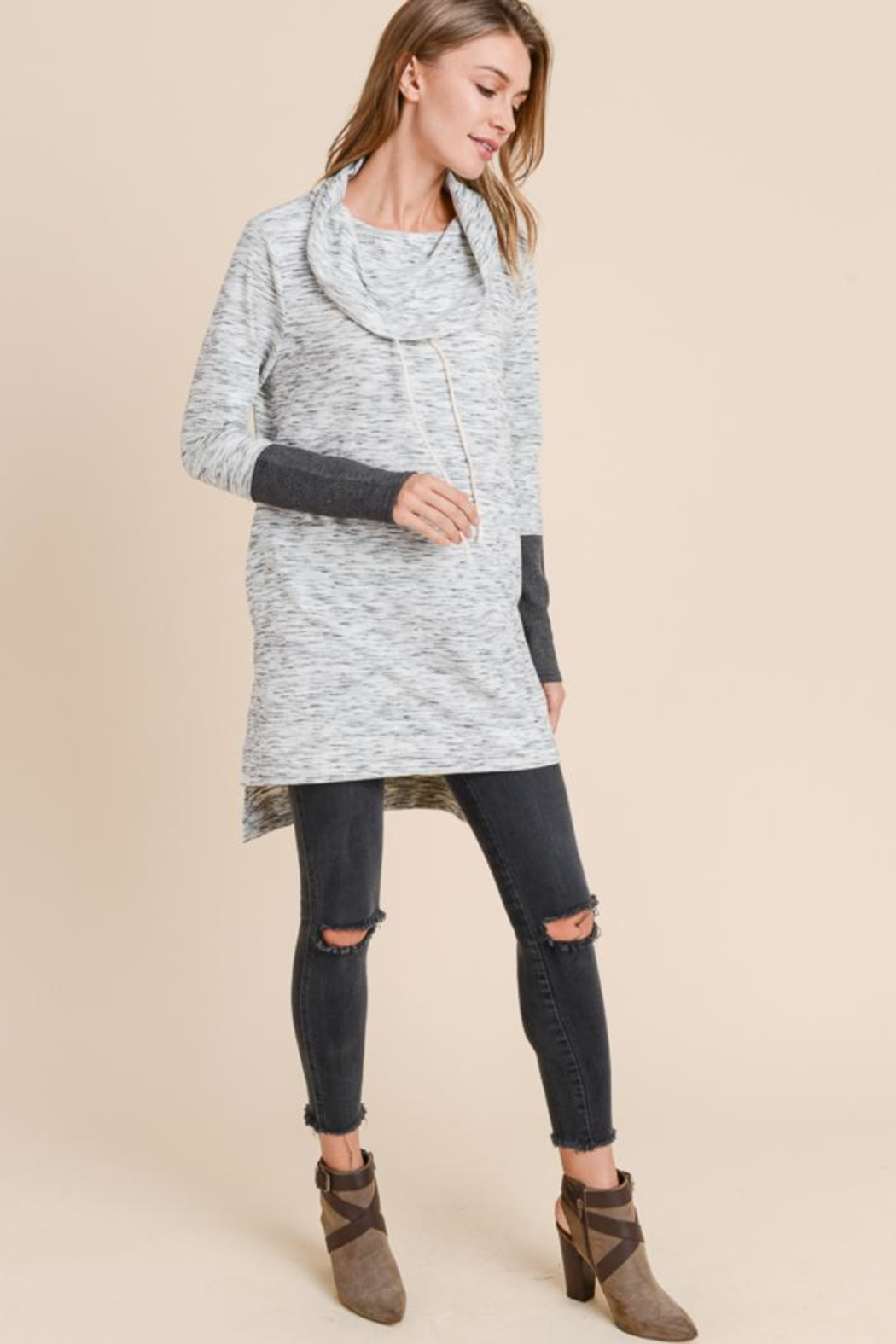 Doe & Rae Cowl Neck Tunic - Main Image