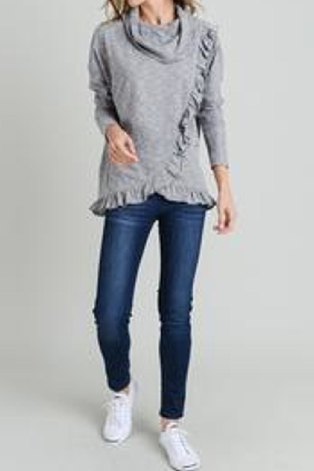 Doe & Rae Cowl Ruffle Top - Front Cropped Image