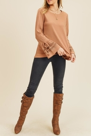 Doe & Rae Crochet Bellsleeve Top - Product Mini Image