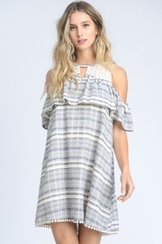 Doe & Rae Detailed Stripes Dress - Product Mini Image