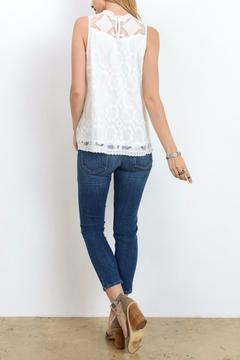 Shoptiques Product: Embroidered White Tank