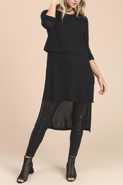 Doe & Rae Extra Long Sweater - Front cropped