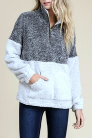 Doe & Rae Fleece Pullover Sweater - Product Mini Image