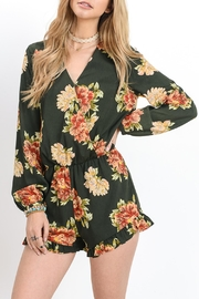 Doe & Rae Floral Green Romper - Product Mini Image