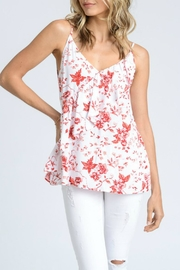 Doe & Rae Floral Ruffle Tank - Front cropped