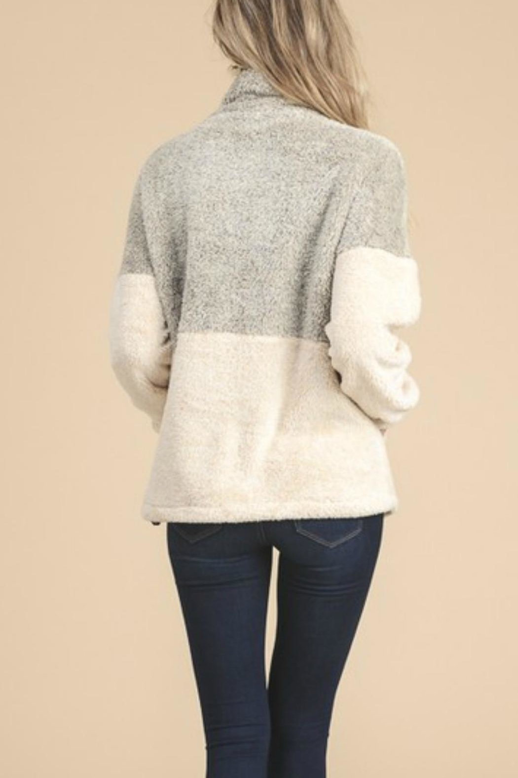 Doe & Rae Fuzzy Pullover - Front Full Image