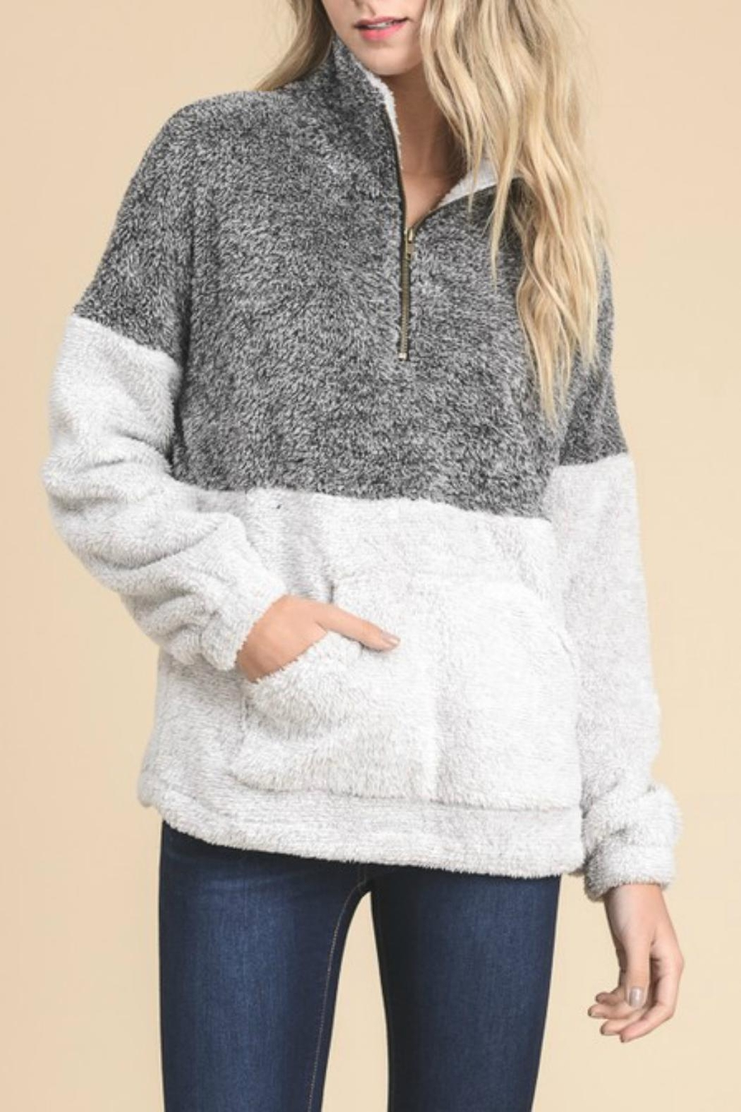 Doe & Rae Fuzzy Pullover - Front Cropped Image
