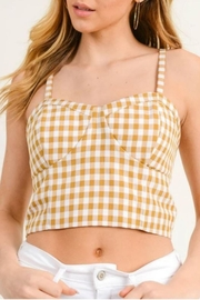 Doe & Rae Gingham Bustier Top - Product Mini Image