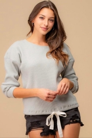 Doe & Rae Grey Thermal Top - Product Mini Image