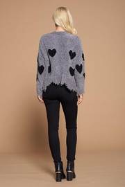 Doe & Rae Heart Shape Detail Distressed Sweater - Other