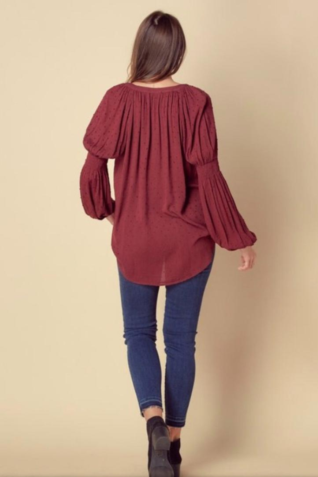 Doe & Rae High Low Blouse - Front Full Image
