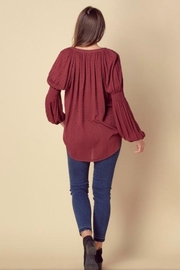 Doe & Rae High Low Blouse - Front full body