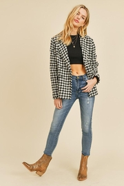Doe & Rae Houndstooth Double Breast Jacket - Front full body