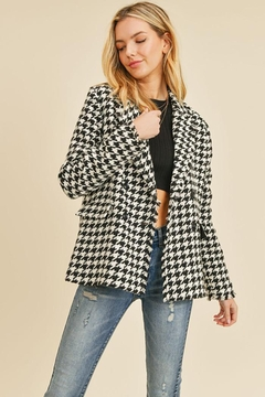 Doe & Rae Houndstooth Double Breast Jacket - Product List Image