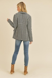 Doe & Rae Houndstooth Double Breast Jacket - Side cropped