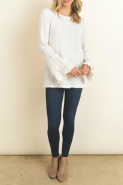 Doe & Rae Ivory Ruffled Top - Front cropped
