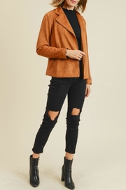 Doe & Rae Kimmy Faux-Suede Moto - Product Mini Image