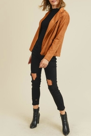 Doe & Rae Kimmy Faux-Suede Moto - Front full body