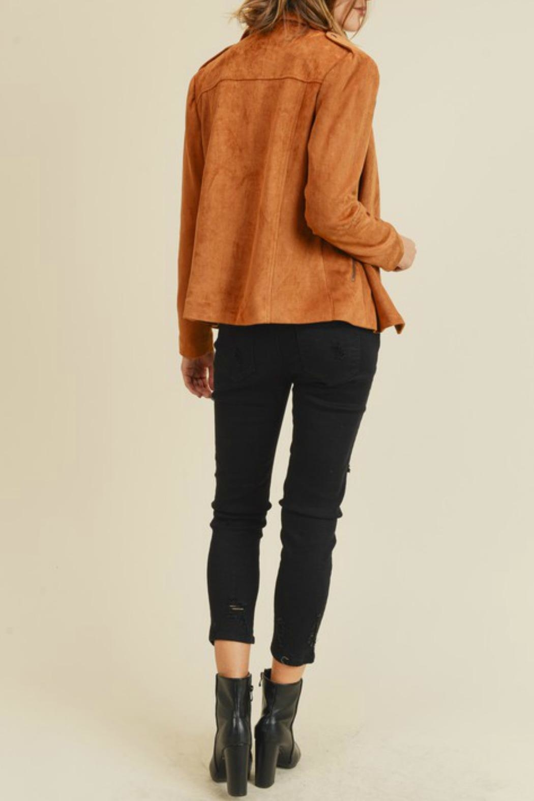 Doe & Rae Kimmy Faux-Suede Moto - Side Cropped Image