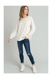 Doe & Rae Lace Back Top - Front cropped