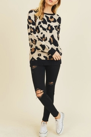 Doe & Rae Leigh Leopard Sweater - Front cropped
