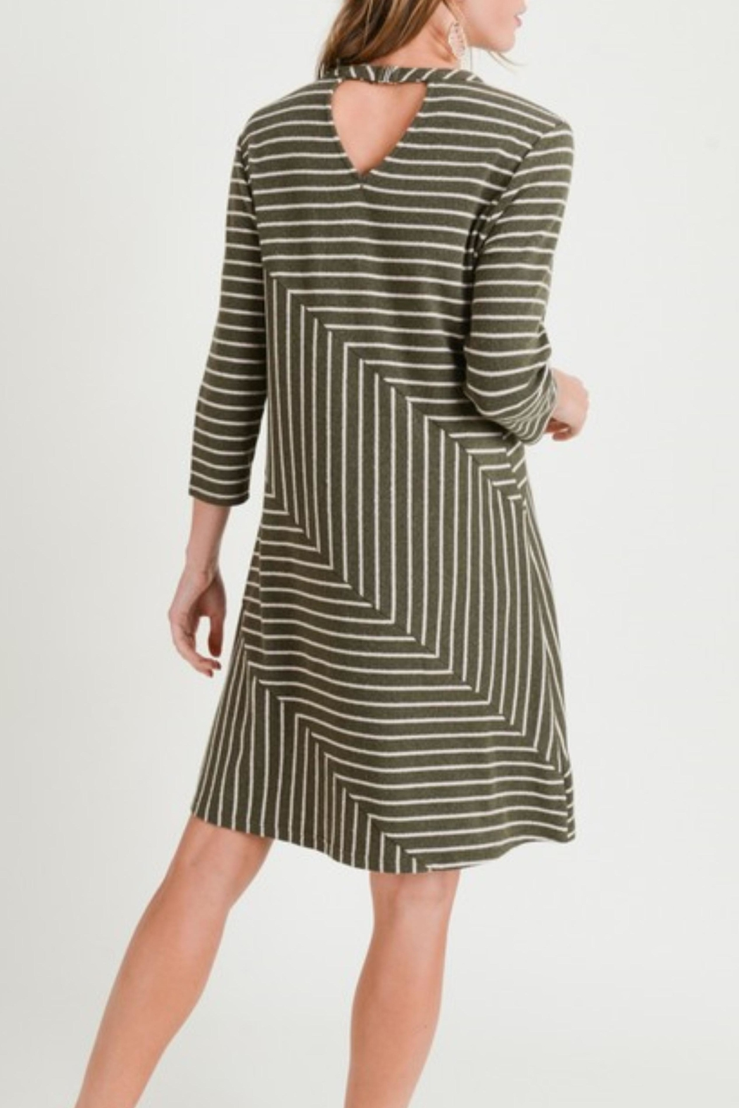Doe & Rae Linear Knit Dress - Main Image