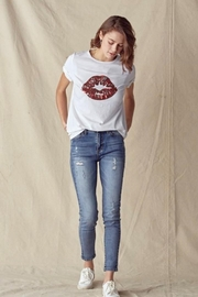 Doe & Rae Lips Trimmed Tee - Front full body